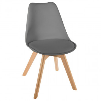 Chaise Scandinave Gris