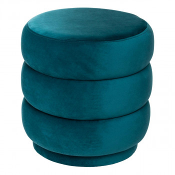 Pouf Oval Velours
