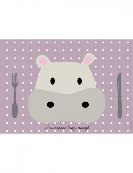 Set de Table Hippopotame