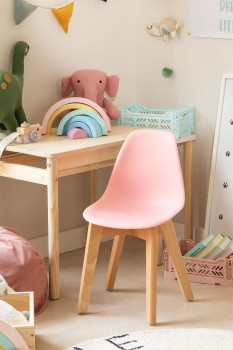 Chaise Enfant Scandinave Rose