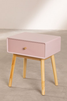 Table de Chevet Bicolore Rose